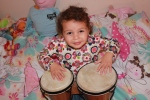 My own little Tribe member, bringing you the Tribal Drums